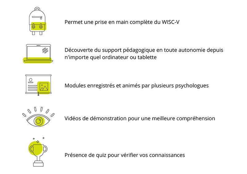 support pedagogique WISC V